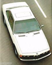 1978 BMW 633CSi / 633 SCi Dealer Sales Brochure / Catalog