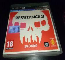 Resistance 3 PS3 ITALIANO PAR NUOVO COMPLETO DISCO VERGINE nessun graffio leggi!