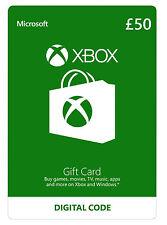 Microsoft Xbox Live Gift Card - 50 Pounds