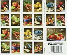 US NATURE FRUITS & VEGETABLES 2020 SCOTT #5484-5493 VF FOREVER STAMP BOOKLET NIP