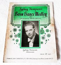BARN DANCE MEDLEY Sydney Thompson's No. 2 1950 Vintage SHEET SCORE MUSIC