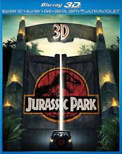 Jurassic Park 3D (3D Blu-ray+Blu-ray+DVD, 2013, 3-Disc Set, DC/UV)