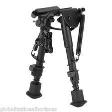 "6&""-9&"" Adjustable Spring Return Sniper Hunting Rifle Gun Clamp Bipod Swivel Sli"
