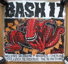 "BASH 17 Screened POSTER Amphetamine Reptile MELVINS Mudhoney CHERUBS 18"" x 18"""