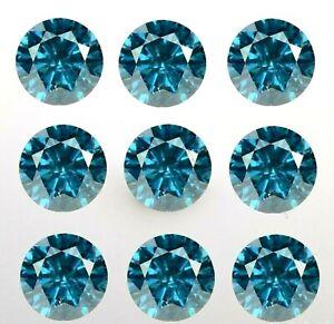 10 = .10ct Blue Diamond. Round Brilliant Cut. Loose diamond