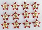 12pcs RUSSIAN SOVIET PIN RED  STAR ARMY MEDAL ORDER WAR AWARD BADGE OKTYABABRATA