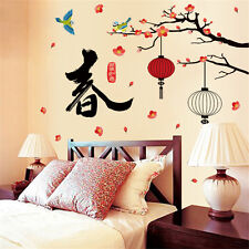 Chinese Spring Room Home Decor Removable Wall Stickers Decals Decorations