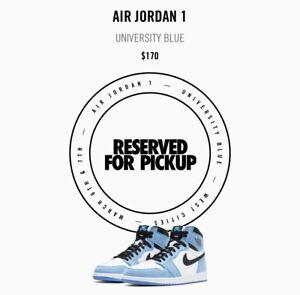 Air Jordan 1 Retro High University Blue 555088-134 Size 9
