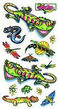 37037 Neon Gecko Sticker Decal Helmet Set Pack 1990s - Retro Glows Blacklight