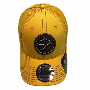 Pittsburgh Steelers New Era 39Thirty Neo Tonal Silicone M/L FlexFit Cap Hat $32