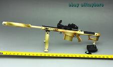 BattleField 1/6 Gun Barrett M82A1 M107A Full Metal Sniper Rifle Desert camouflag