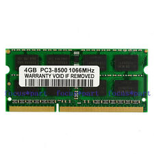 New 4GB PC3-8500S DDR3 1066 MHz 204pin SODIMM Memory For Apple Mackbook Pro