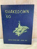 USS CORAL SEA CVA-43 '60 SHAKEDOWN DEPLOYMENT CRUISE BOOK YEAR LOG 1960 - NAVY