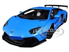 LAMBORGHINI AVENTADOR LB-WORKS METALLIC SKY BLUE 1/18 MODEL CAR BY AUTOART 79107