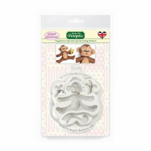 Katy Sue Designs - Sugar Buttons Monkey Silicone Mould