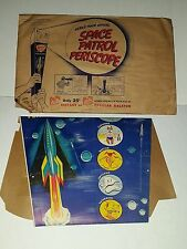 VINTAGE SPACE PATROL PERISCOPE RALSTON PURINA 1950s COMPLETE +ENVELOPE