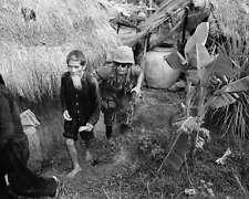 MARINE MOVES VIET CONG SUSPECT  8X10 PHOTO VIETNAM WAR
