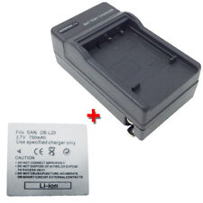 Battery&Charger for SANYO Xacti VPC-E1 VPC-E1W VPC-E1BL 6.0MP Waterproof MPEG4
