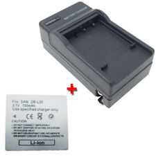 DB-L20 Battery&Charger for SANYO Xacti VPC-CA9 VPC-CG65 VPC-CG9 VPC-CG6