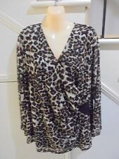 MIRRORS SIZE 20 BLACK BROWN LINED TOP 'PERFECT' SPECIAL OCCASION VERY DRESSY