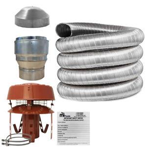 5 inch Flue Liner Kit 316, 125mm For Stoves & Chimney, LifeTime Warranty