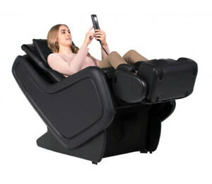 Black SofHyde ZeroG 3.0 ZG Massage Chair Zero Gravity Recliner by Human Touch