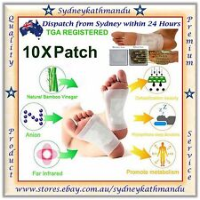 10 X Detox Foot Pads Patch Natural plant Toxin Removal Detoxify Fit Health Care