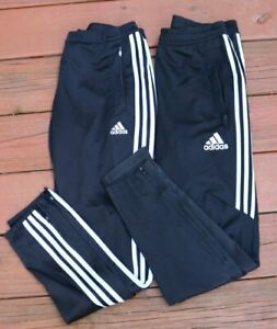 Adidas Climacool Three Stripe Black Tapered Leg Warm Up Training Pants M Lot 2