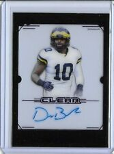 2019 Leaf Trinity Clear DEVIN BUSH II Purple Foil Auto RC Steelers