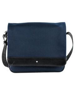 Montblanc Nightflight Collection Blue Nylon Fabric Messenger Bag 116784