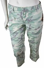 NEW VTG 90s DICKIES GIRL Camouflage CAPRI PANTS Low Rise Camo Size 3 Green NOS