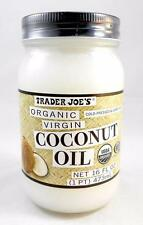 Trader Joe's Coconut Oil Organic Extra Virgin Cold Pressed Unrefined 16 Fl. Oz.