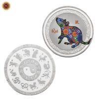 WR Chinesisches Mondjahr der Ratten Silbermünze Tierkreiszeichen Sammlung
