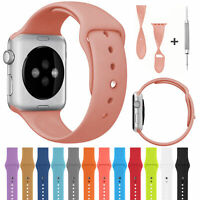 For Apple iWatch Series 3 2 1 Sport Silicone Band Soft Watch Strap 38mm/42mm US
