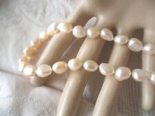 VINTAGE JEWELLERY BAROQUE PEARL NECKLACE ANTIQUE JEWELRY
