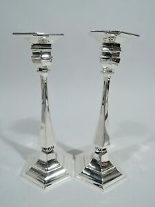 Tiffany Candlesticks - 12039 - Classical Pair - American Sterling Silver