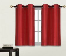 "2 PANELS Bedroom Half Window Curtain & KITCHEN WINDOW TIER 36"" BLACKOUT D24"