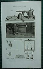 1786 PRINT ~ ELECTRICITY ELECTRICAL MACHINE VARIOUS APPARATUS EQUIPMENT