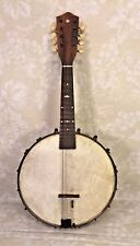 Ant Mini Mandolin Banjo 8 String Mother of Pearl Inlay on Scroll and Fingerboard