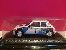 SUPERBE PEUGEOT 205 TURBO 16 RALLYE DE MONTECARLO 1985 NEUF SOUS BLISTER 1/43