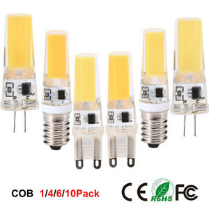 LED COB G4 G9 E14 Lamp Bulb Dimable Replace Halogen Chandelier Lights Warm white