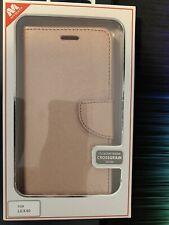 LG K40 My Jacket Wallet CrossGrain Phone Case Pink Shiny Kickstand Magnetic