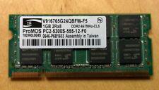 ProMOS 1GB PC2-5300S DDR2 667MHz Laptop Memory Ram V916765G24QBFW-F5