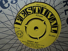 "Jimmy Little ""Danny Boy"" & ""That Lucky Old Sun"" 1959 FESTIVAL Oz 7"" 45rpm"