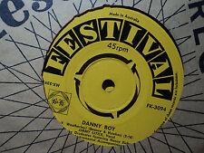"Jimmy Little ""Danny Boy"" & ""That Lucky Old Sun"" 1959 FESTIVAL Oz 7"" 45rpm"