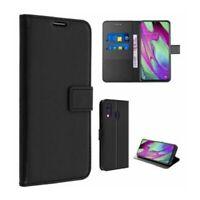 Etui Housse Coque Portefeuille Protection Integrale Noir pour Samsung Galaxy A50