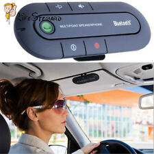 Slim Magnetic Bluetooth Handsfree In Car Phone Kit Wireless Speaker Visor Clip