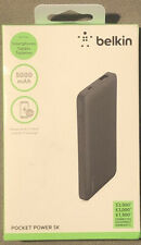 Belkin 5000mAh Portable Ultra Thin Battery Charger - Black Power Bank 5000mAh