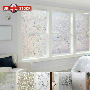 3D Privacy Window Glass Film Static Self-Adhesive Sticker Vinyl Frosted Cover YE