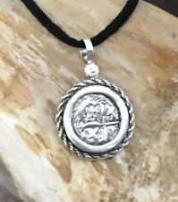 ATOCHA Coin Pendant Rope 925 Sterling Silver Sunken Treasure Shipwreck Jewelry